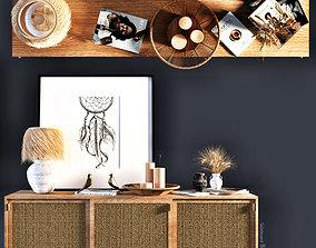3D Sideboard-Decorative Set- Boho