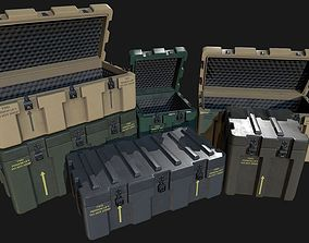 3D asset Low Poly PBR Military Crate Collection