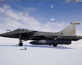 French Dassault Rafale Marine Fighter 3D asset