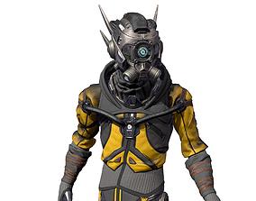 3D model rigged Cyborg