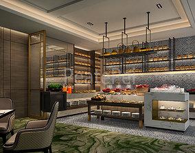 scene restaurant 3d model