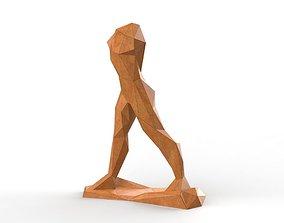 low poly sculpture art walking dead 3D printable model