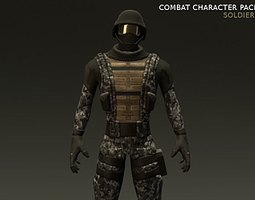 3D asset Combat Character Pack 1 Soldiers