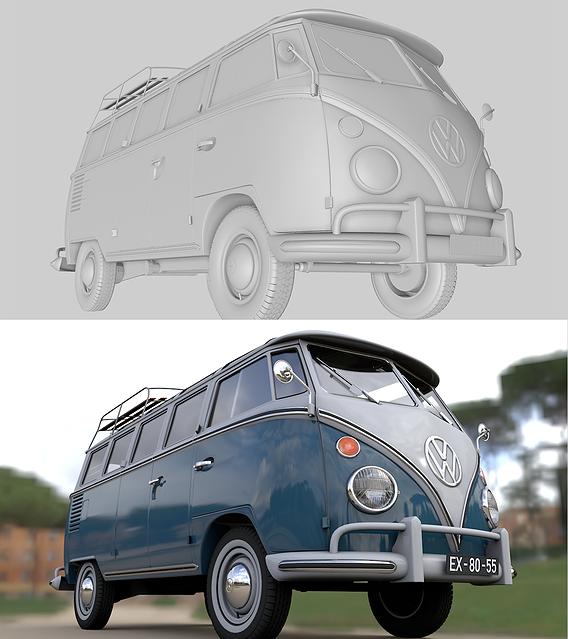 Volkswagen T1 Microbus Deluxe 1966