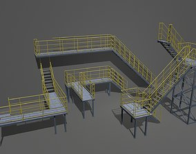 3D model Industrial Stairs Modular 2