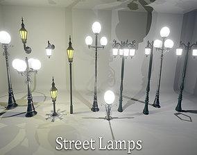 3D asset VR / AR ready Street Lamps