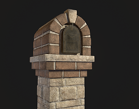 3D model game-ready Brick Mailbox