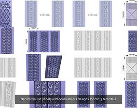 decorative 3d panels and doors sheets designs for cnc