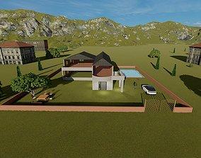 3D asset Villa