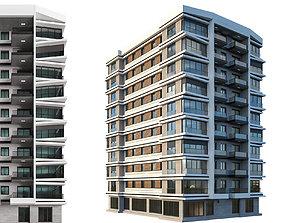 3D Modern Residential Building 03