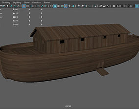 Noahs Ark lowpoly 3D model