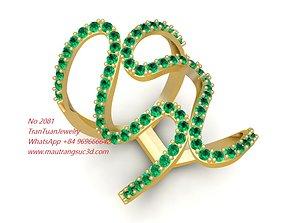 2081 Diamond women Ring 3D printable model
