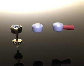 BEZEL BASKET 4MM EARRING 3D printable model
