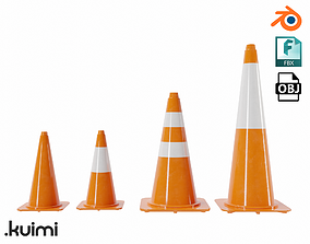 Cones Pack 002 3D model