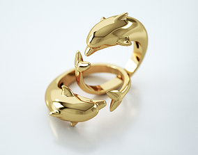 3D printable model Dolphin ring 001