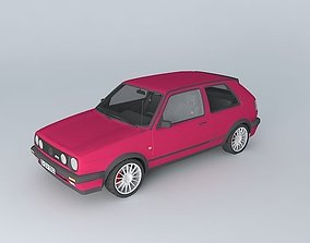 3D model Volkswagen Golf Mk2 GTI Typ 19E 1989