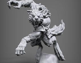 Werewolf 3D printable model figurines