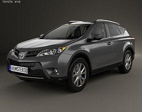3D Toyota RAV4 with HQ interior 2013