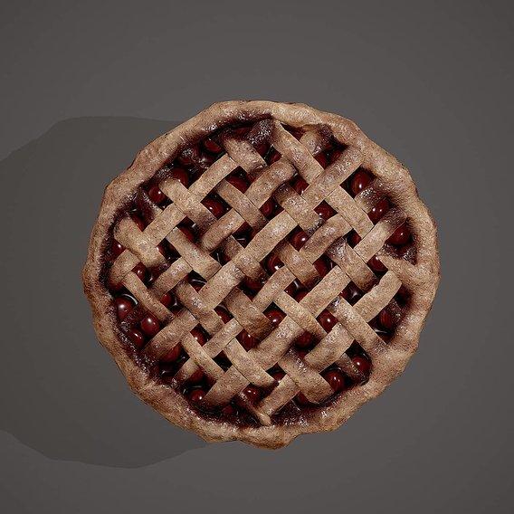 Medieval Style Cherry Pie