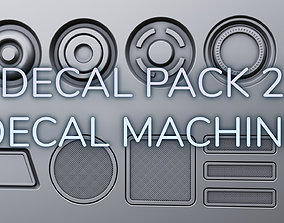 40 Decals Ready for Decal Machine 3D asset