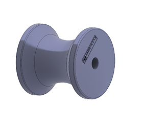 Marine yacht or Boat anchor chain bow roller 3d print