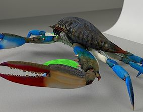 3D asset Blue Crab Enemy Poison dripping off the Fangs 2