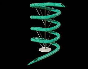 low-poly Water Slide 3D model