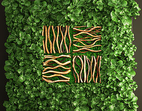 3D Vertical gardening leaves