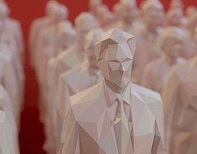 3D asset 99 Low Poly Human People Figurines