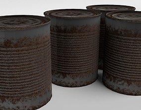 3D asset Rusty Tin Can