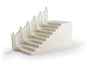 3D model White Marble Railing