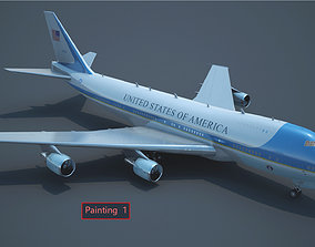 3D model Air Force One Boeing VC-25A Boeing 747-2G4B