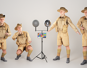 3D asset Animated Australian infantryman character from 3