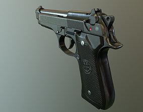 beretta gun 92FS 3D asset