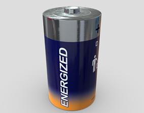 Battery D 3D model VR / AR ready