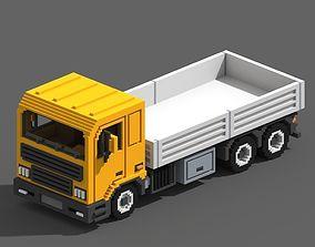 Voxel Flatbed Truck 3D asset