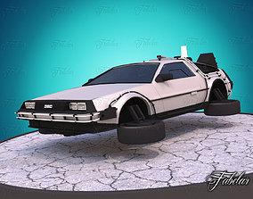 3D model Delorean - Back to the future