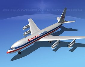 3D model Boeing 707 American Freighter