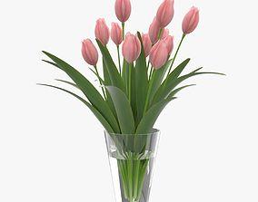 Flower Tulip in Vase 3D