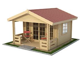 Garden Wooden Cabin 3D model