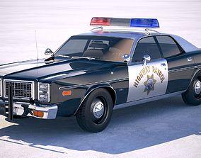 3D model Dodge Monaco Police 1977