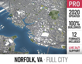 Norfolk - city and surroundings 3D asset