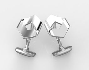 3D print model hexagon cufflinks 3 versions