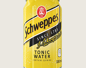 3D model Schweppes Tonic Drink Aluminium Can
