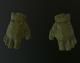 3D asset game-ready Gloves shirt