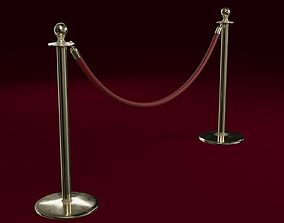 Stanchion and a Red Velvet Rope 3D