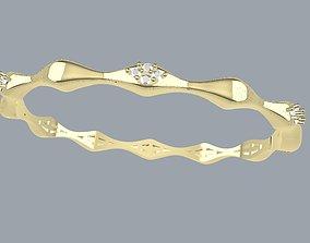 Bracelet wave onde 3D print model