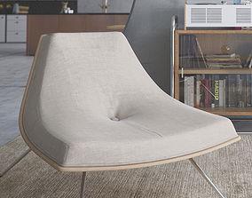 James Donahue Coconut Lounge Chair 3D model