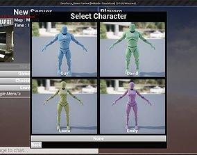 Unreal Engine Blueprint Multiplayer Starter 3D model 1