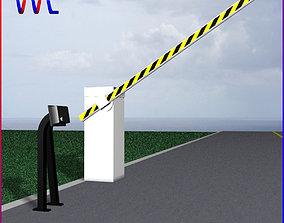Barrier Gate 2 3D asset